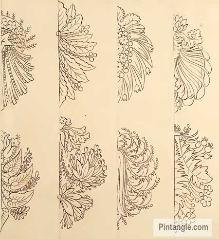 Free Hand Embroidery Patterns In Old French Design Book Pintangle