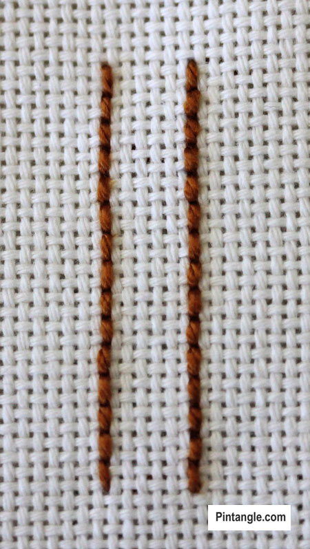 Raised Cretan Stitch Tutorial