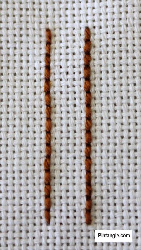 Raised Cretan Stitch Tutorial