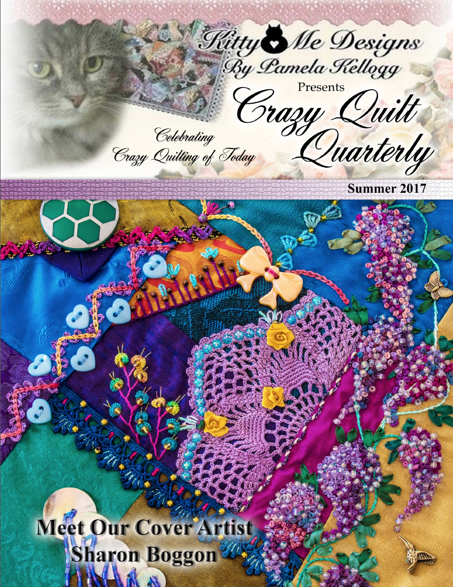 Guess who is on the cover of Crazy Quilt Quarterly!