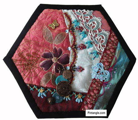 2020 crazy quilt block 1 It all starts here!