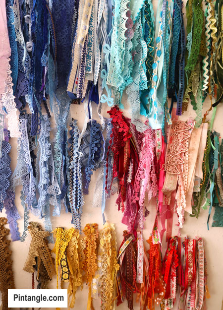 Lace for the 2020 crazy quilt