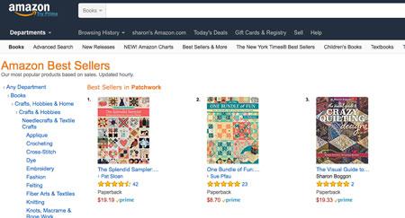 screenshot of bestseller list - patchwork