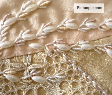 Beaded Alternating Feather stitch Tutorial