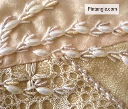 Beaded Alternating Feather stitch Tutorial