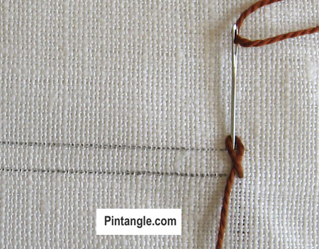 Braid Stitch tutorial step 1