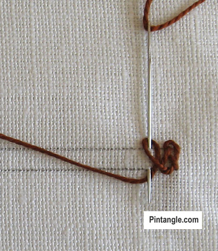 Braid Stitch tutorial step 4