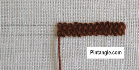 Braid Stitch tutorial step 5