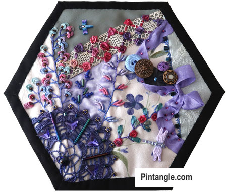 2020 crazy quilt block 4 by Sharon Boggon on Pintaangle.com