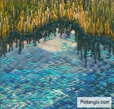 TAST sample fly stitch waters edge
