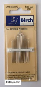 hand embroidery supplies needles