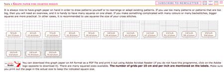Cross Stitch Writing Tool grid paper