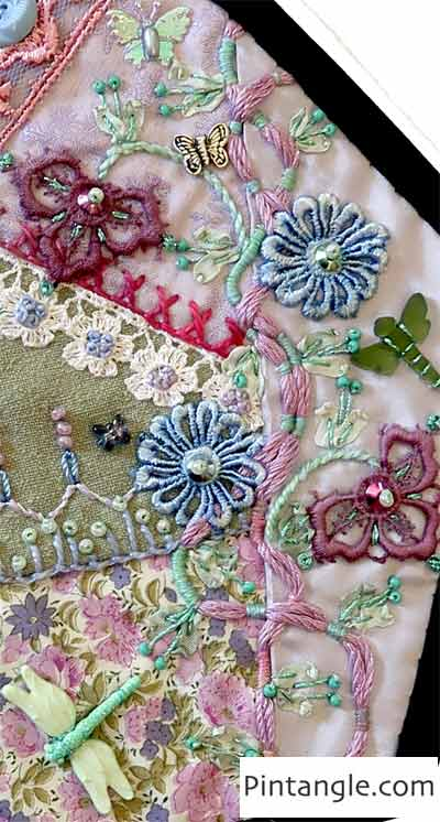 2020 crazy quilt block 11 detail 2