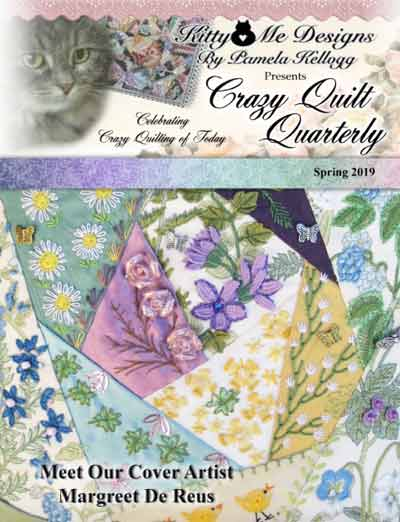 The Spring Issue of Crazy Quilt Quarterly cover
