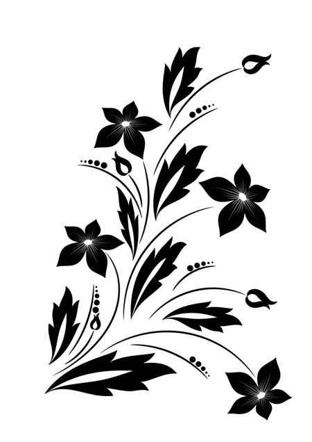 Floral Image from ClipSafari for a Hand Embroidery Design