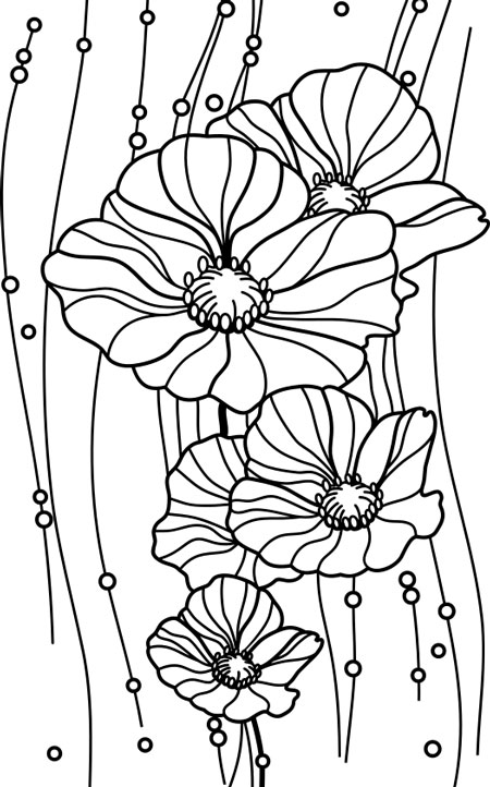 Image of Poppies from ClipSafari for Hand Embroidery Design
