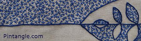 Freeform cross stitch sample