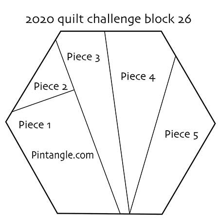 Hexagon Quilt block 26 pattern