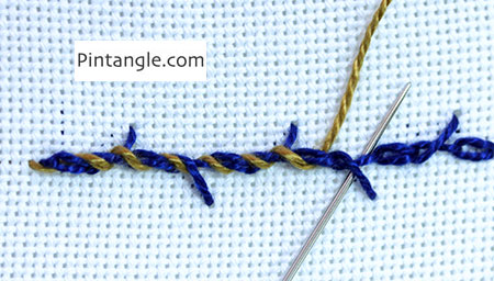 Whipped Barred chain stitch