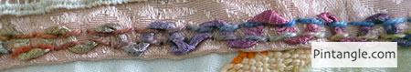 Threaded Back Stitch sample 2