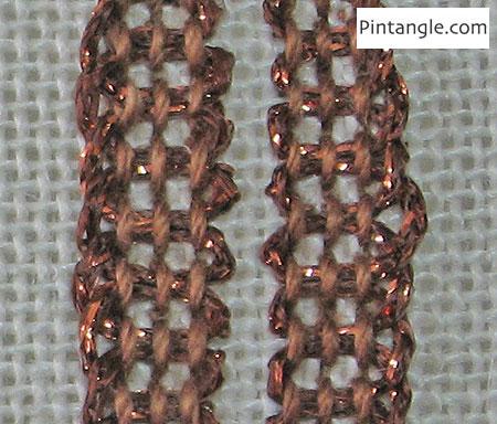 Laced Pekinese Stitch step 1