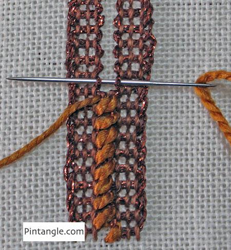 Laced Pekinese Stitch step 2