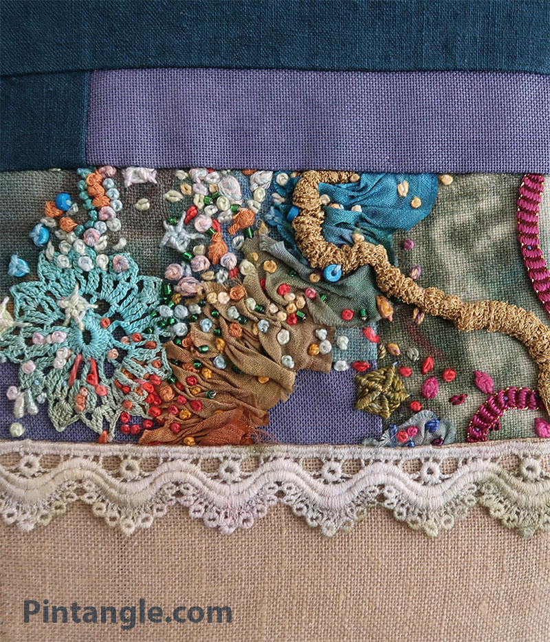 Fabric book page detail